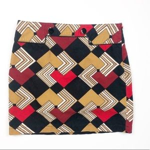 Ann Taylor LOFT Geometric Print Career Skirt